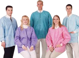 Picture of Extra-Safe Lab Coat Knee Length 10/pk - Valumax