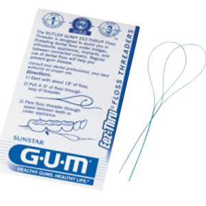 GUM Eez-Thru Floss Threaders-Sunstar Americas-Dental Supplies