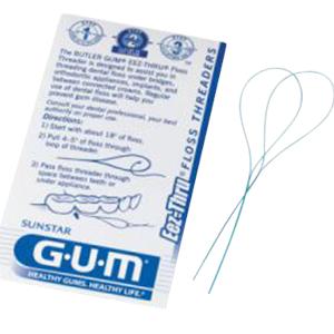 GUM Eez-Thru Floss Threaders-Sunstar Americas-Dental Supplies