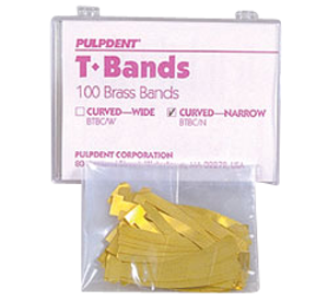T-Bands-Matrix Bands-100/pk-Retainerless-Pulpdent-Dental Supplies