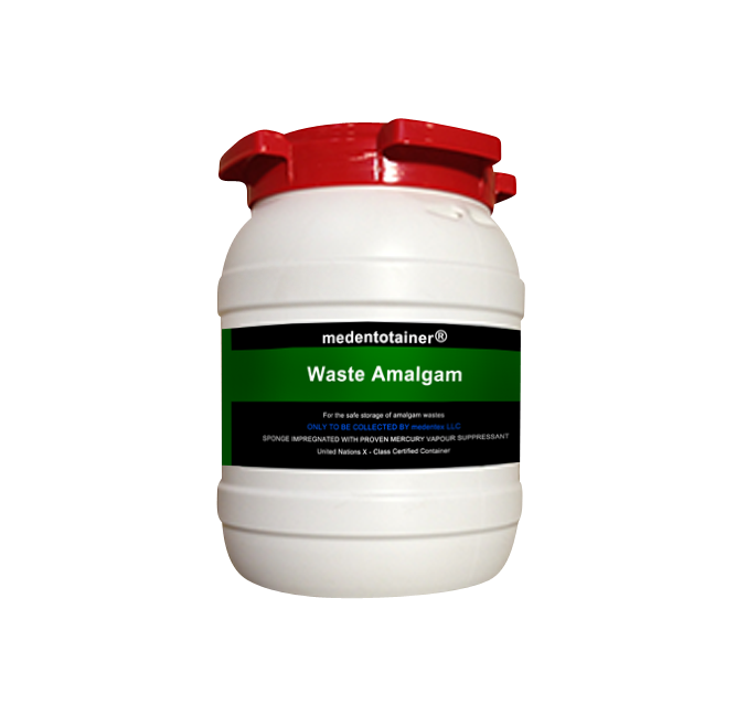Medentotainer Amalgam Waste Container-Sm-Medentex-Dental Supplies