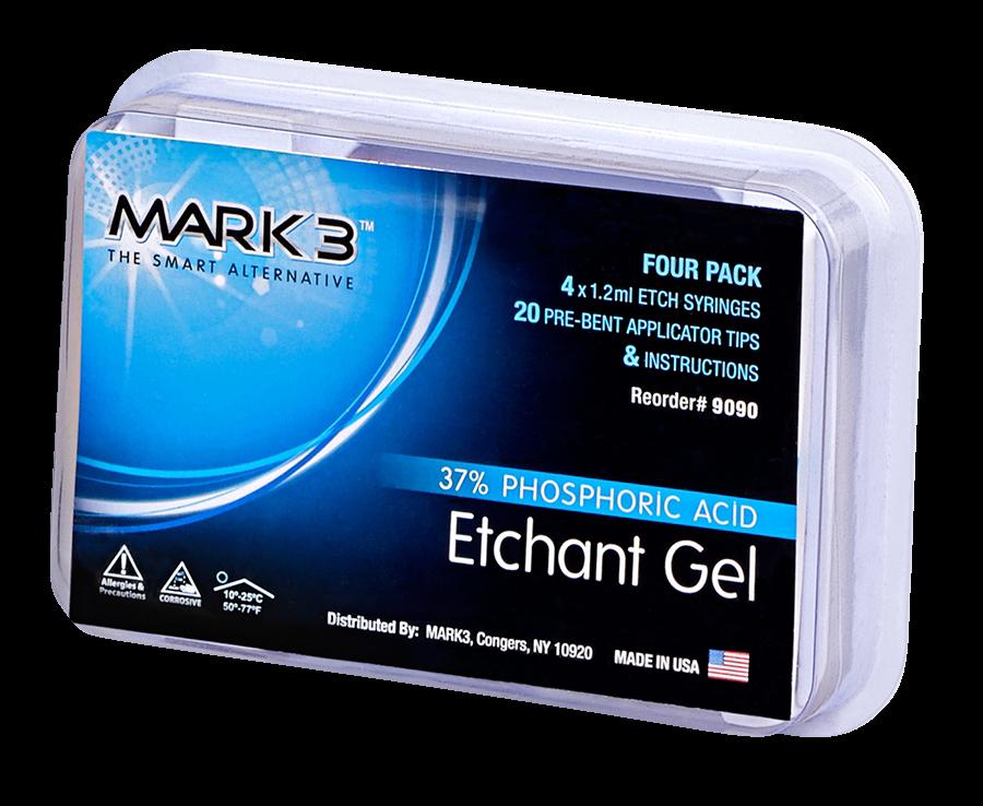 Etch Gel 37% Phosphoric Acid-4/pk-1.2ml-MARK3-Dental Supplies