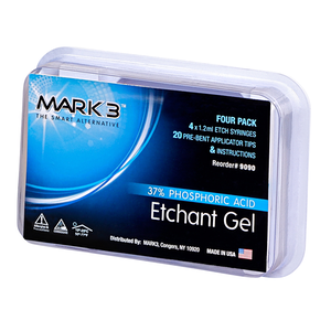 Etch Gel 37% Phosphoric Acid-4/pk-1.2ml-MARK3-Dental Supplies