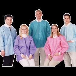 Extra-Safe- Hip Length Jackets-10pk-Valumax-Dental Supplies