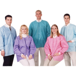 Picture of Extra-Safe Hip Length Jackets White Large 10/pk - Valumax