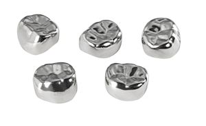 Primary Molar Stainless Steel Crowns-5/pk-Mark3-Dental Supplies