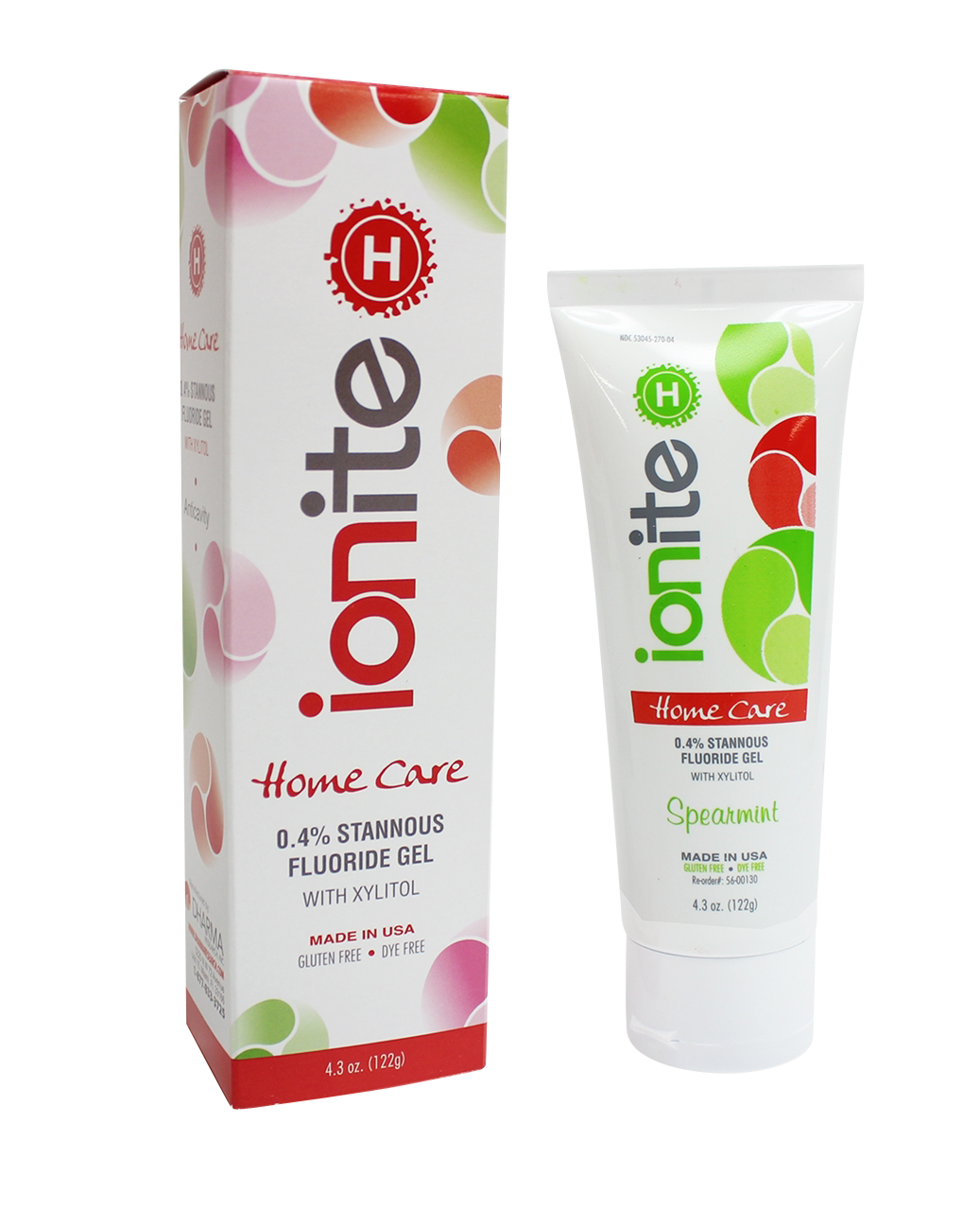 Picture of Ionite-H .40% Stannous Fluoride Gel 4.3oz Spearmint - Dharma