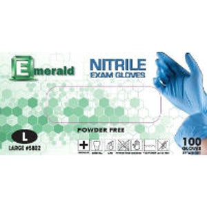 Emerald-Nitrile Powder Free Gloves-100/bx-Emerald-Dental Supplies