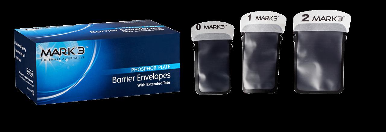 Phosphor Plate Barrier Envelopes #0 22x35mm 300/bx - MARK3 - dental supplies