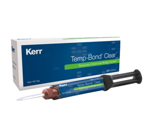 Temp-Bond Clear-Box+Syringe-Temporary Cement-Kerr-Dental Supplies