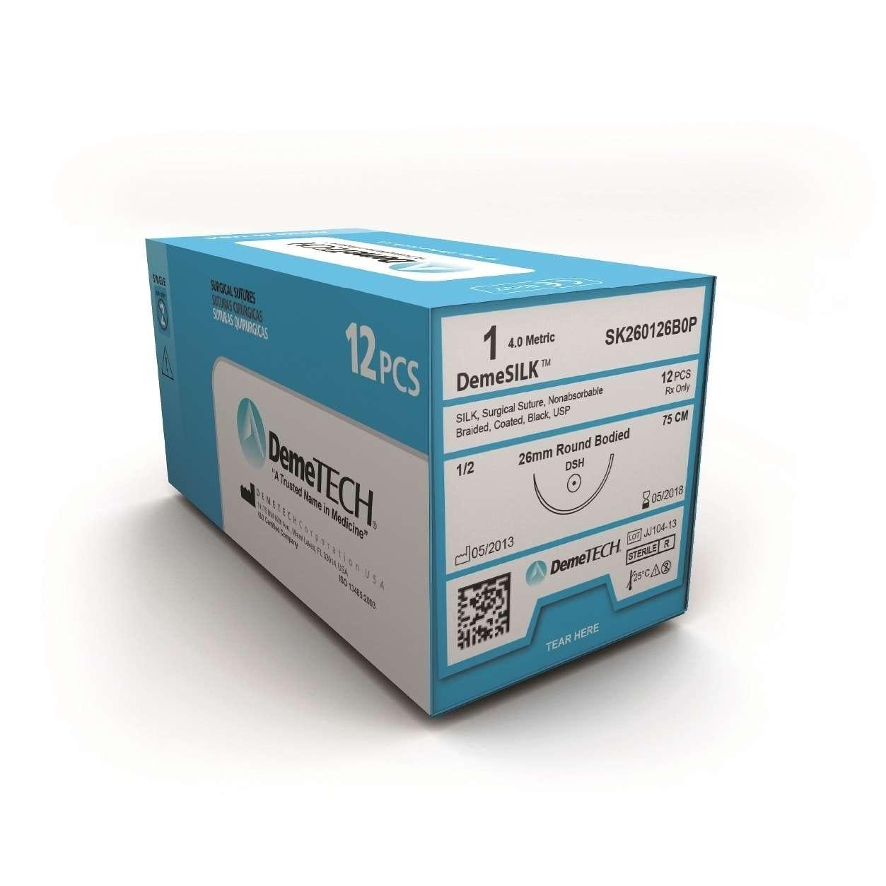 DemeTECH Silk Sutures 12/bx - Dental Supplies