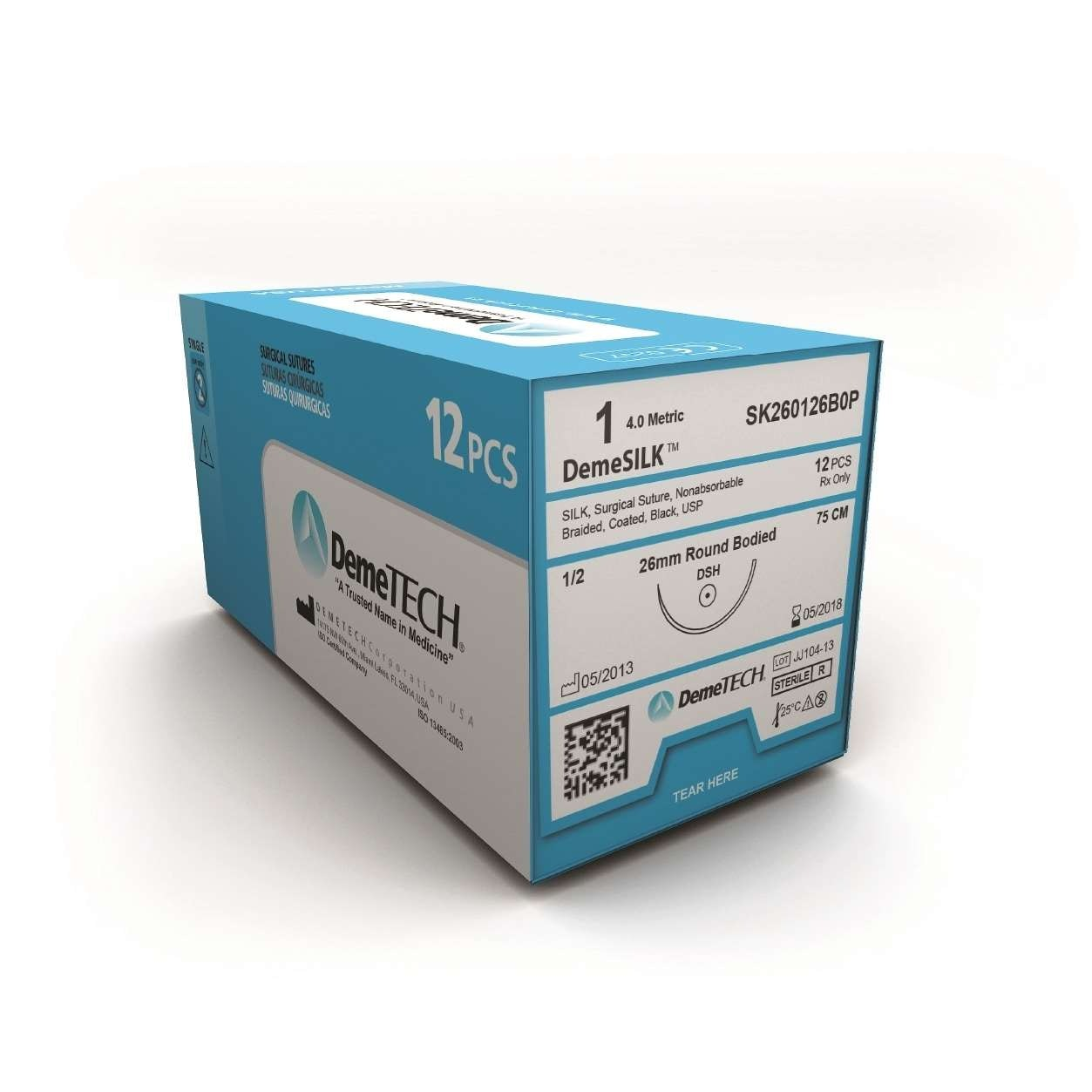 DemeTECH Silk Sutures 12/bx - Dental Supplies