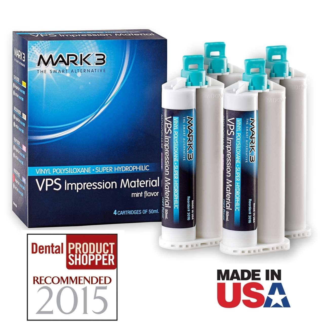 VPS Impression Material-4pk-MARK3-Dental Supplies