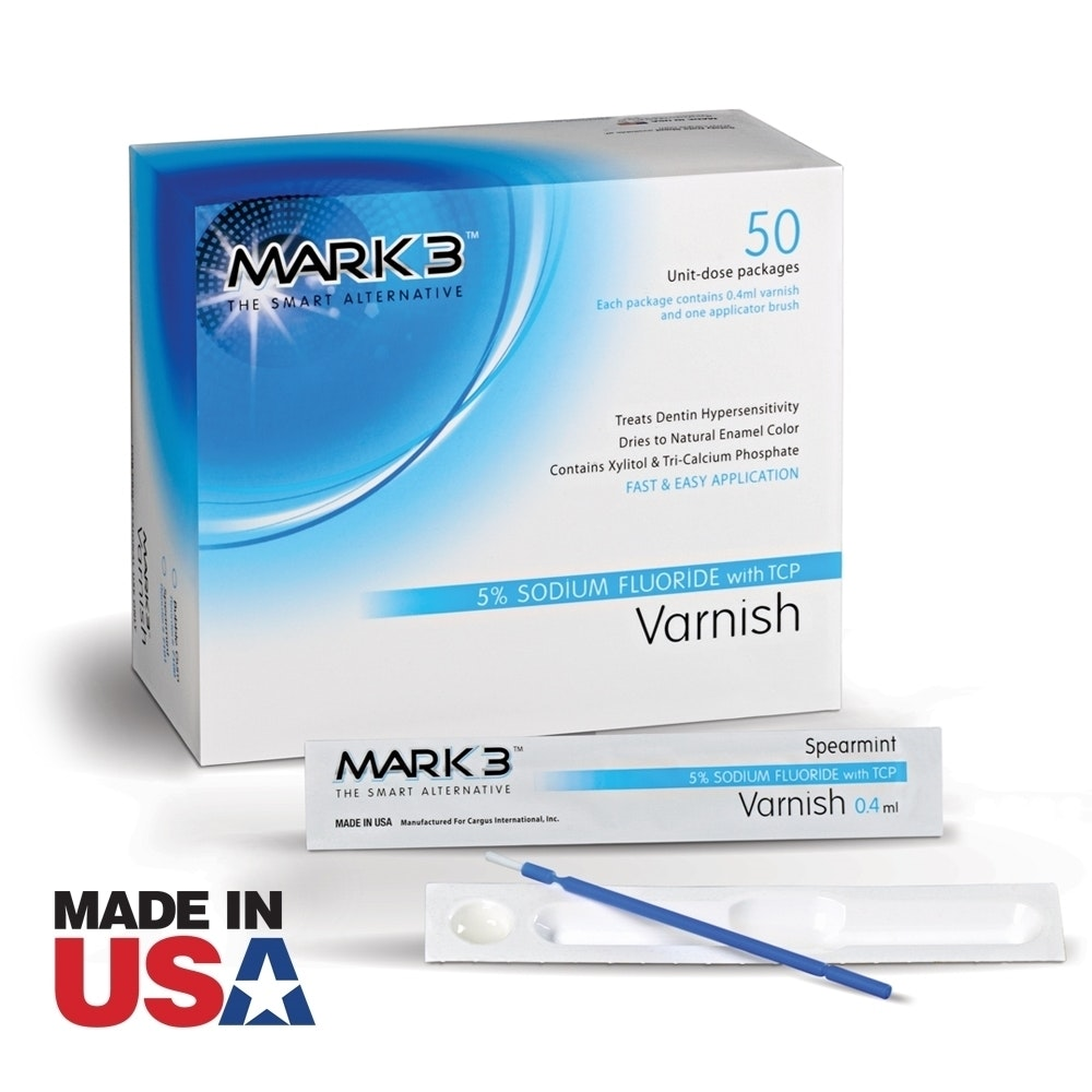 MARK3 Varnish 5% Sodium Fluoride w/TCP-50bx-Mark3-Dental Supplies