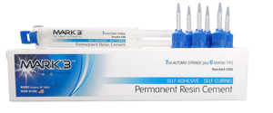 MARK3 Permanent Resin Cement Self Adhesive 7ml Automix Syringe - Dental Supplies