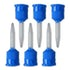 HP Short Mixing Tips-Blue-Dental Supplies