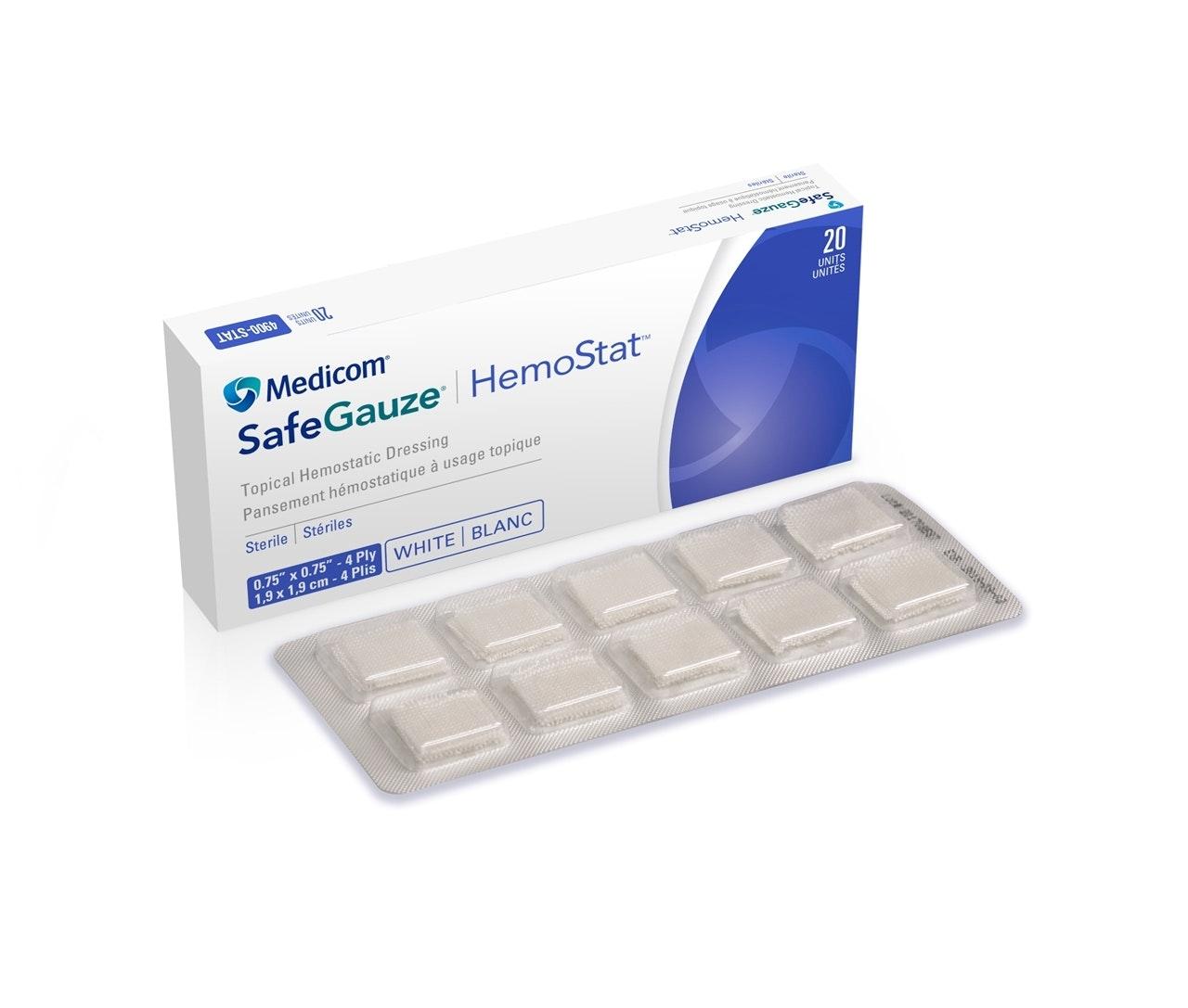 SafeGauze Hemostat - Topical Hemostatic Dressing - Medicom