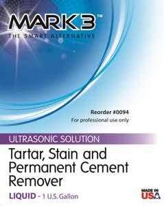 MARK3 Tarter Stain Cement Remover Label - Noble Dental Supplies