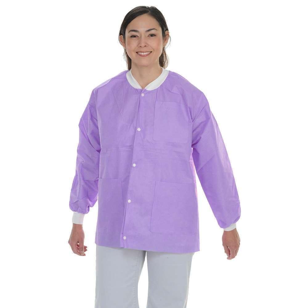 Protect Plus Disposable Lab Jackets Hip Length 10/pk - MARK3 - dental supplies