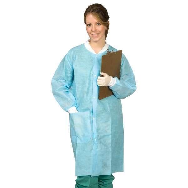 Econo Disposable Lab Coats Knee Length 10/pk - MARK3 - dental supplies