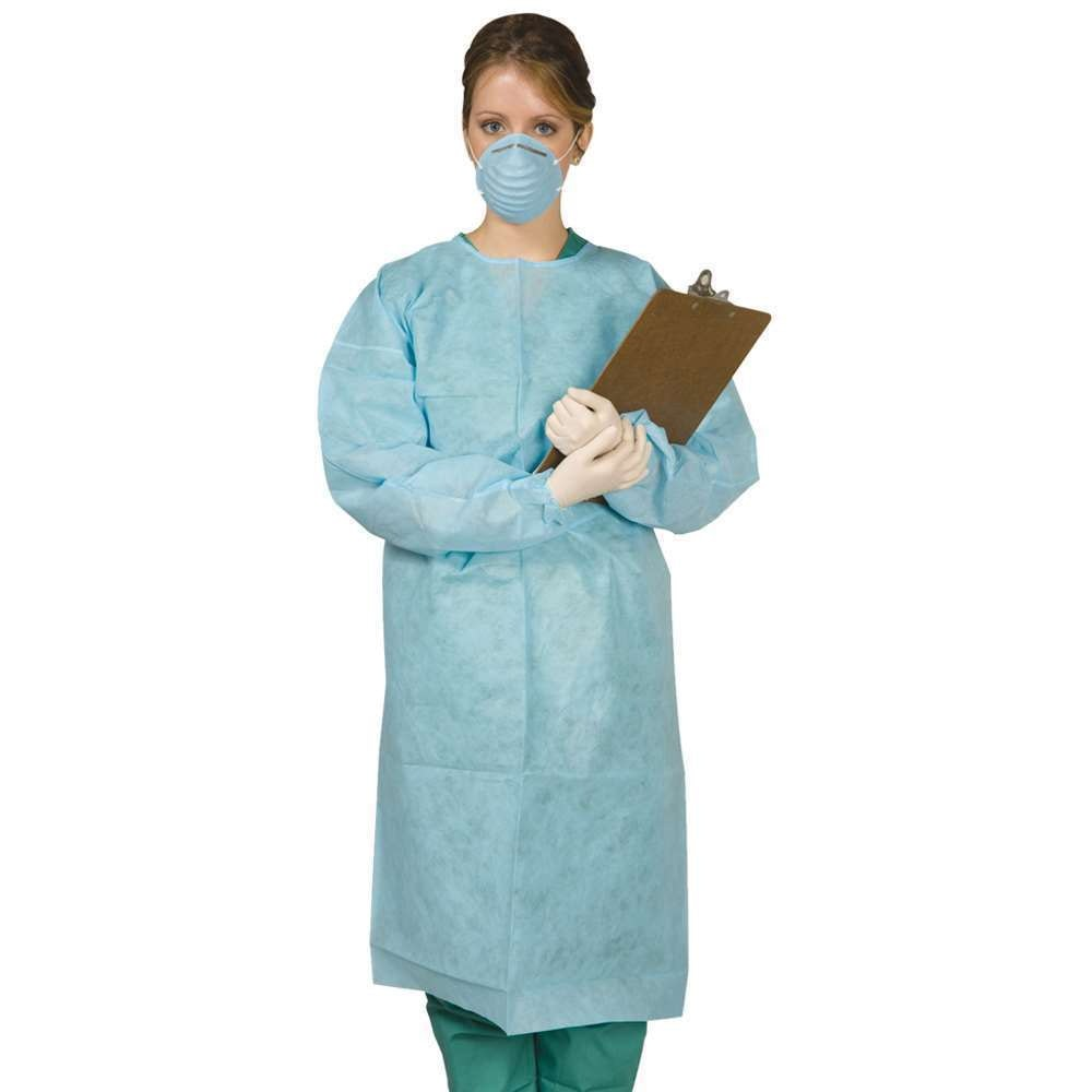 Protect Plus Isolation Gown Tie-Back Sky Blue 10/pk - MARK3 - dental supplies