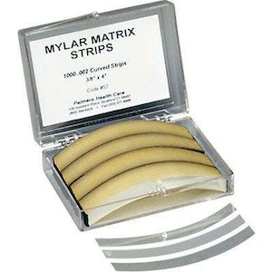 Mylar Matrix Strips .002 Curved 1000/bx - Palmero - dental supplies