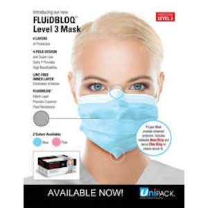 EarLoop Mask Blue Level 3 - 50/bx. - UniPack - dental supplies