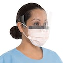 Halyard Level 3 Mask with Shield - Noble Dental Supplies
