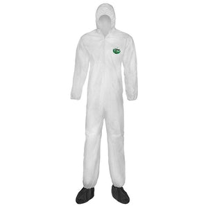 LakeLand MicroMax Disposable Coverall Zipper Front with Hood 25/cs