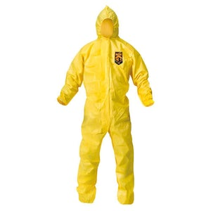 KleenGuard A70 Chemical Spray Protective Yellow Coveralls 12/cs - Kimberly Clark