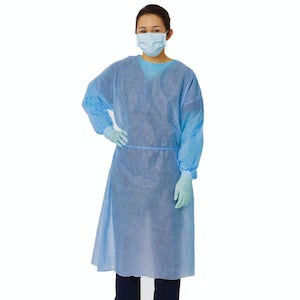 Isolation Gowns Polypropylene with Elastic Cuff 10/pk
