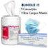 PPE Bundle-Caviwipes-Earloop-Masks-Nobles Dental Supplies