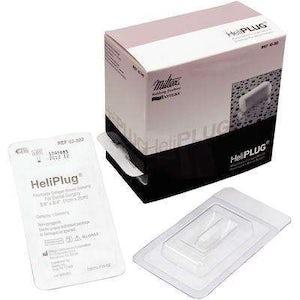 """HeliPLUG® Collagen Wound Dressing – 3/8"""" x 3/4"""", 10/ Box - Miltex"""