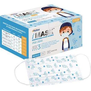 iMask Kids ASTM Level 3 Earloop Mask Blue 50/pk - Pacdent