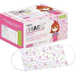 iMask Kids ASTM Level 3 Earloop Mask Pink 50/pk - Pacdent