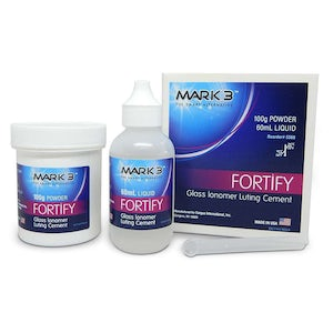 Picture of Fortify Glass Ionomer Luting Cement Powder Liquid Kit - MARK3