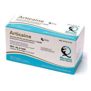 Articaine HCI 4% 1:100,000 w/Epinephrine 50/bx - Quala